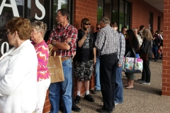 Many anxious people lined the outside of the building on June 3rd.