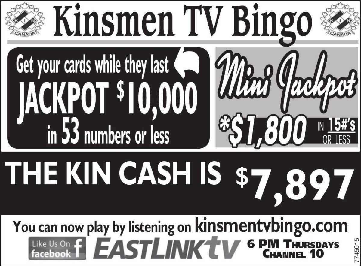 Kinsmen TV Bingo expanding to Truro/Bible Hill area