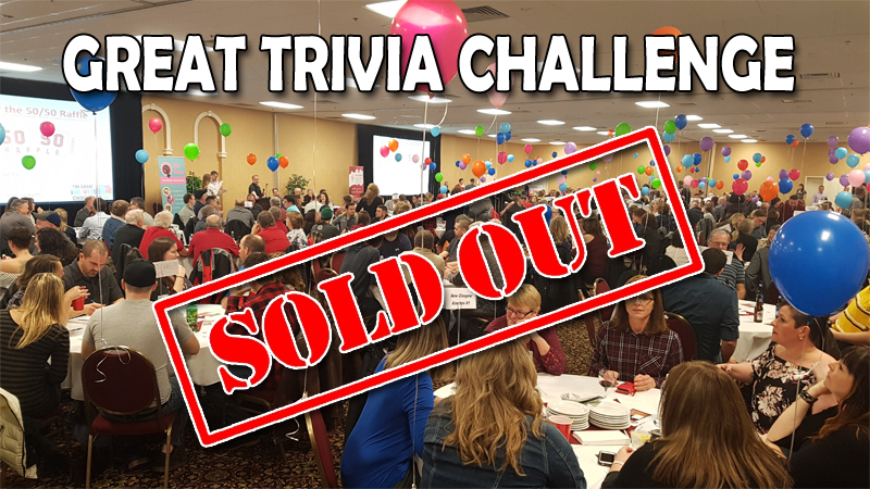 The Great Trivia Challenge is sold out!